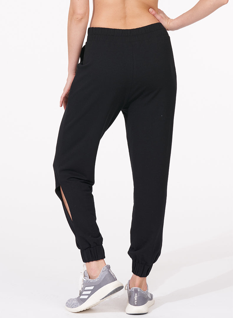 Comforted Side-Slit Jogger- back