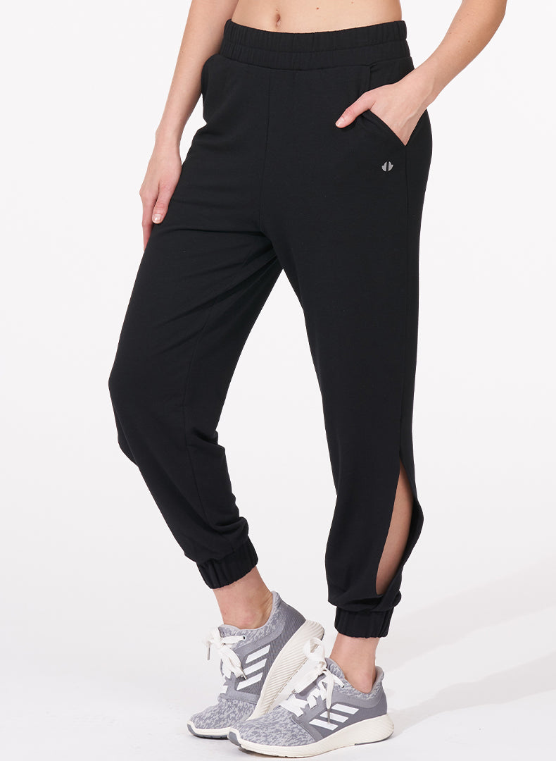 Comforted Side-Slit Jogger - front