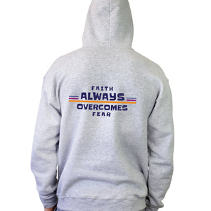 Faith Always Overcomes Fear Hooded Sweatshirt