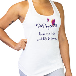You Are Life And Life Is Love Woman's Tri Blend Racerback Tank