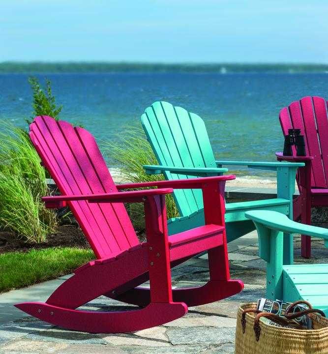 Seaside Casual Coastline Adirondack Rocker or Chair
