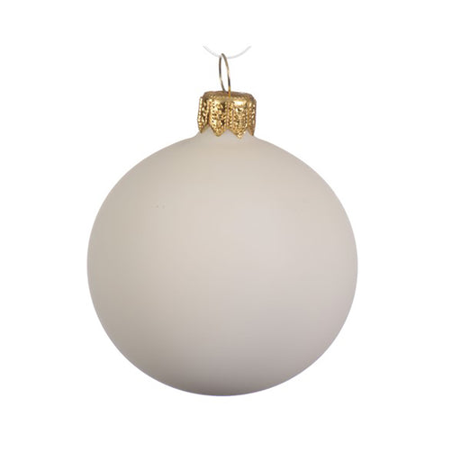 Matte Glass Bauble Ornament - Greenhouse Home