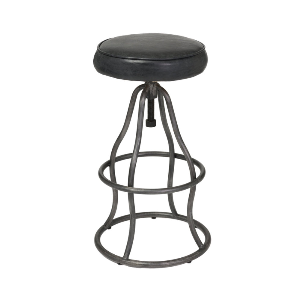Bowie Adjustable Stool - Distressed Black - Greenhouse Home