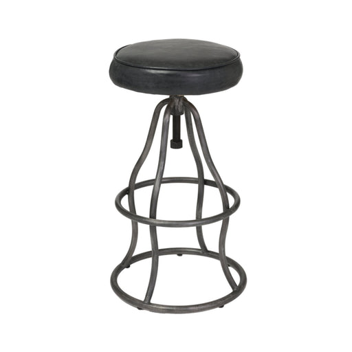 Bowie Adjustable Stool - Distressed Black