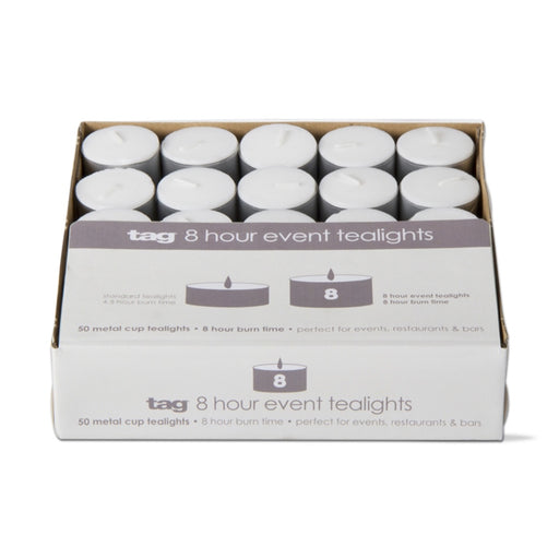 8 Hour Event Tealight Candle - Pack of 50