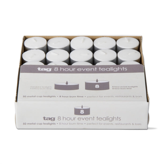 8 Hour Event Tealight Candle - Pack of 50 - Greenhouse Home