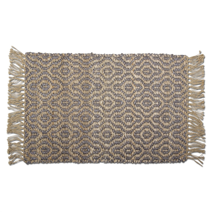 Jute Diamond Fringe Rug - Greenhouse Home