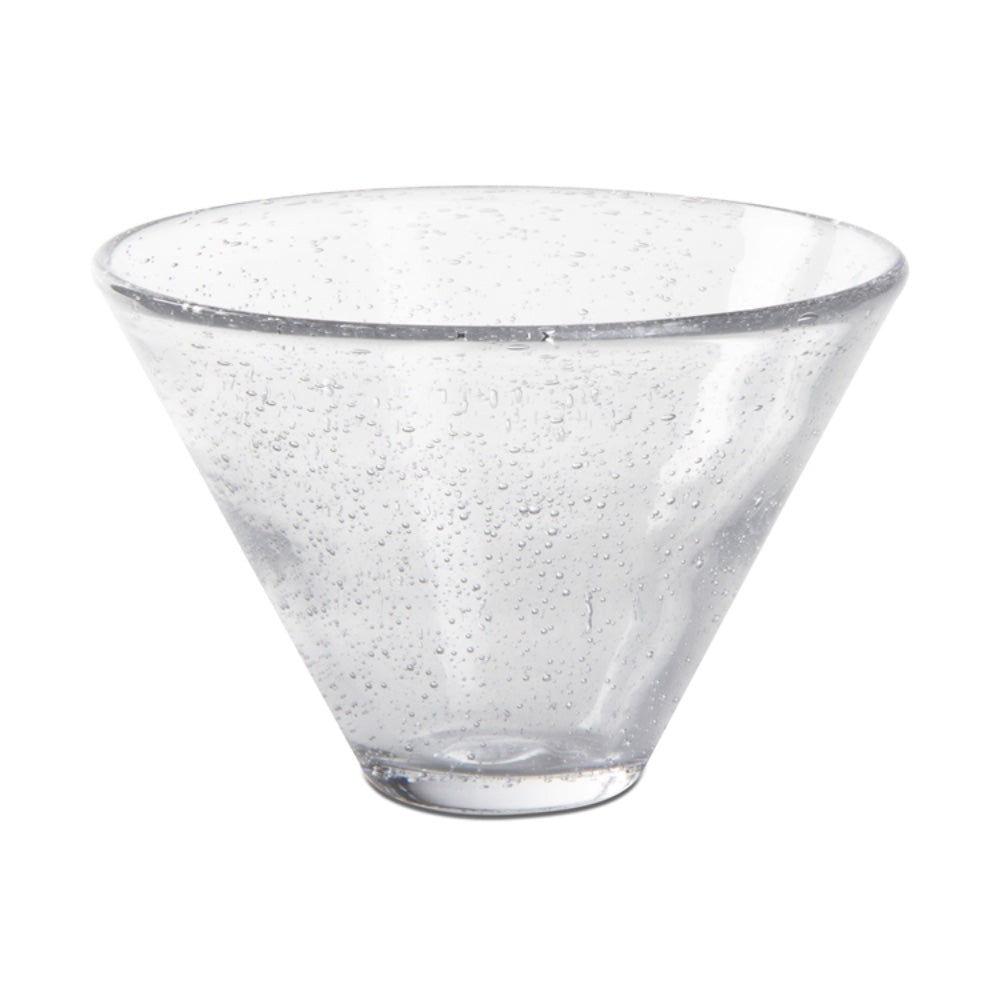 Bubble Glass Stemless Martini Glass - Greenhouse Home