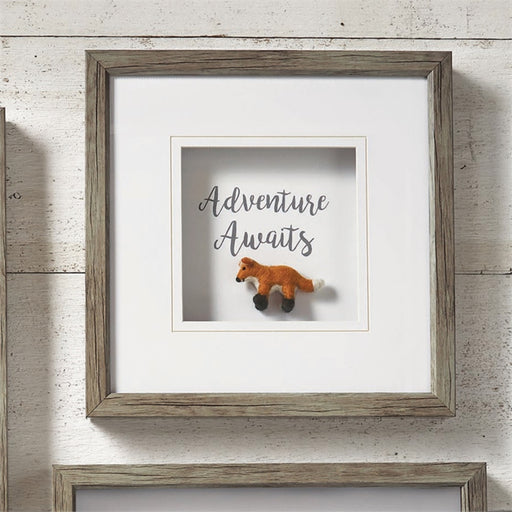 Adventure Awaits Shadow Box Wall Art - Greenhouse Home