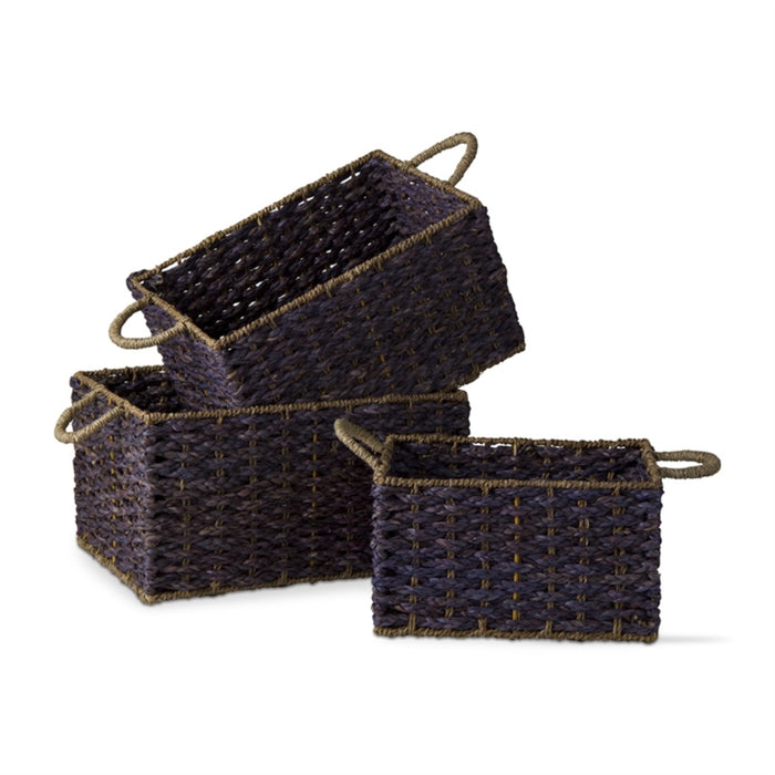 Blue Seagrass Basket - Greenhouse Home