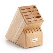 Natural Wood Knife Block- 17 Slot - Greenhouse Home
