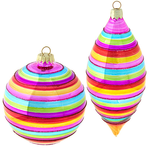 Candy Shoppe Striped Ornament - Greenhouse Home