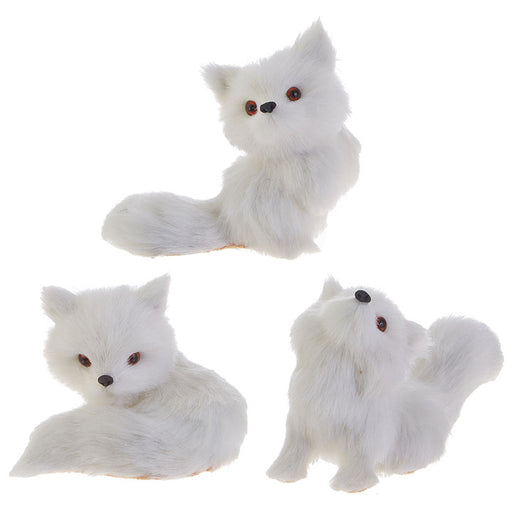 Arctic Fox Ornament - Greenhouse Home