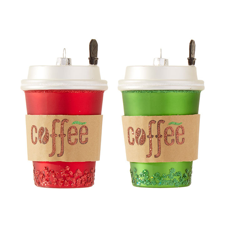 Coffee Cup Ornament - Greenhouse Home