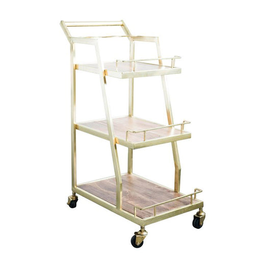 3-Tier Metal Bar Cart - Greenhouse Home