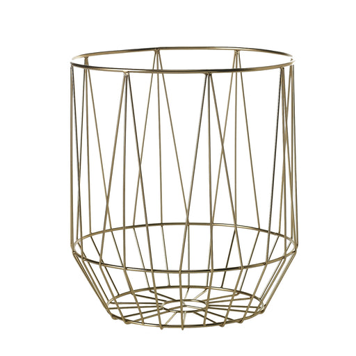 Goldtone Basket - Greenhouse Home