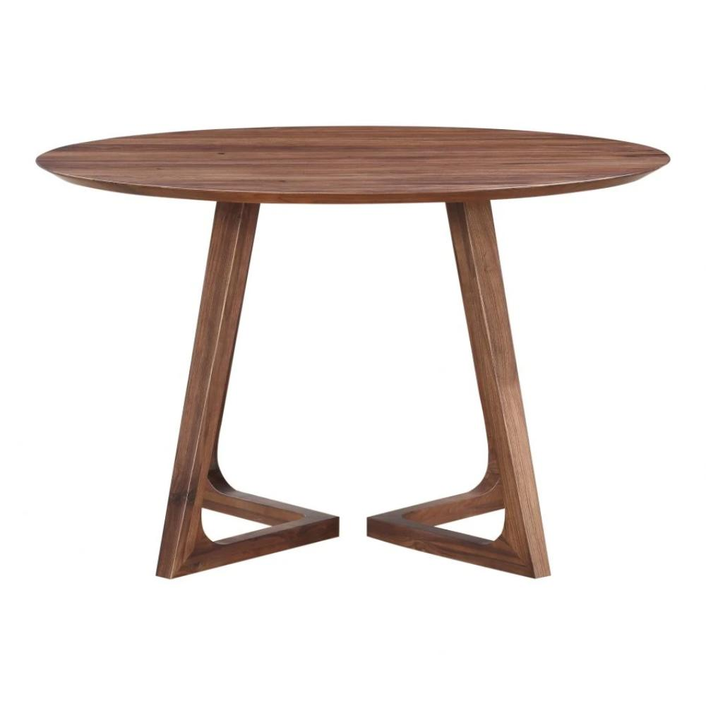 Godenza Dining Table Round Walnut - Greenhouse Home