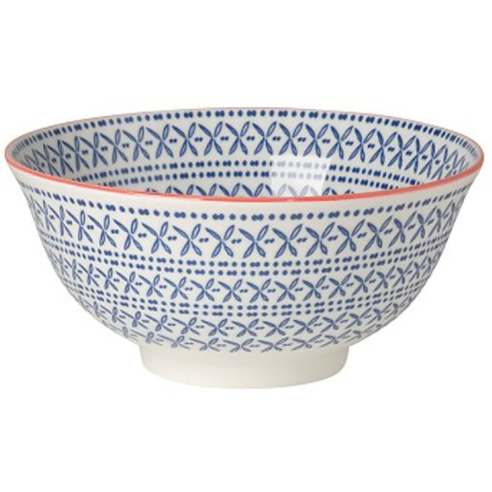 Blue Stamped Bowl