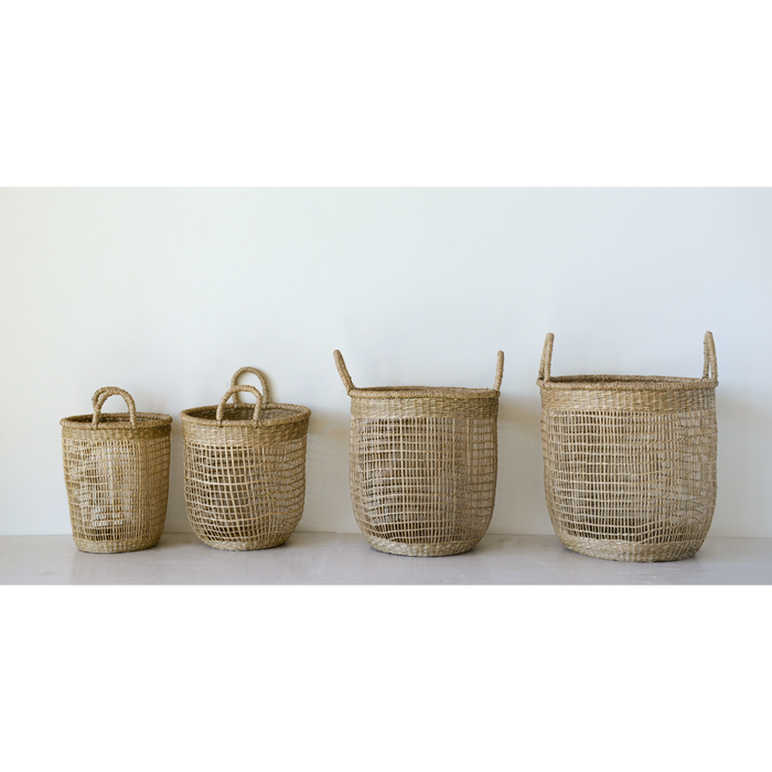 Handwoven Natural Seagrass Baskets - Greenhouse Home