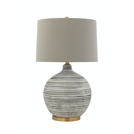 Striped Ceramic Table Lamp with Shade