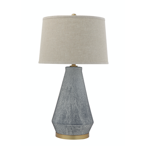 Blue Textured Ceramic Table Lamp