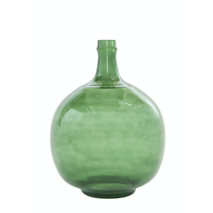 Vintage Glass Bottle Vase - Greenhouse Home