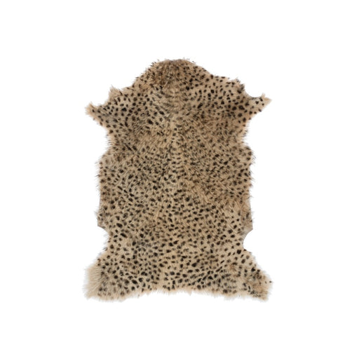 Leopard Print Goat Fur Rug - Greenhouse Home