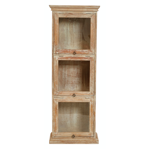 Three-Section Mango Wood Cabinet