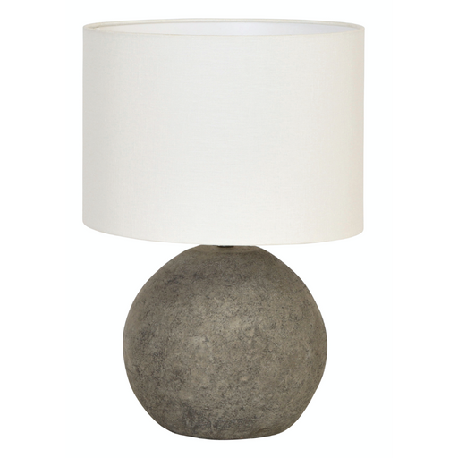 Terracotta Table Lamp with Canvas Shade