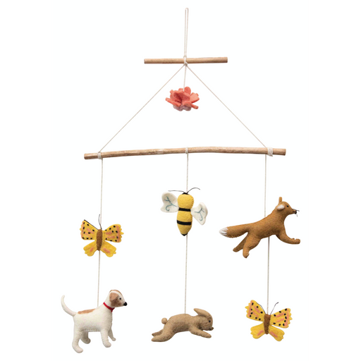 Wood + Wool Felt Animal Mobile