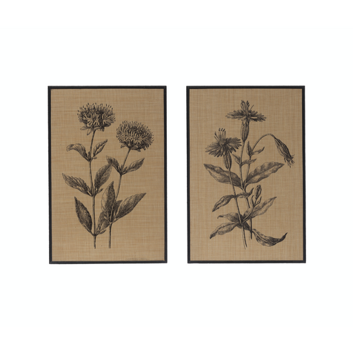 Woven Raffia Floral Wall Art - Greenhouse Home