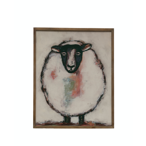 Sheep Wood Framed Wall Art - Greenhouse Home