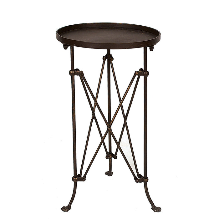 Round Bronze Metal Table - Greenhouse Home