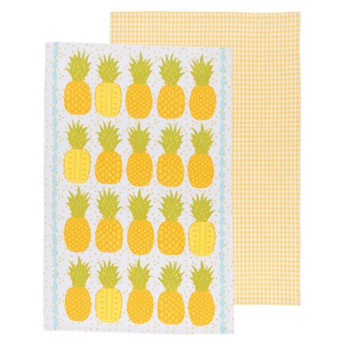 Pineapples Dishtowels - Set of 2 - Greenhouse Home