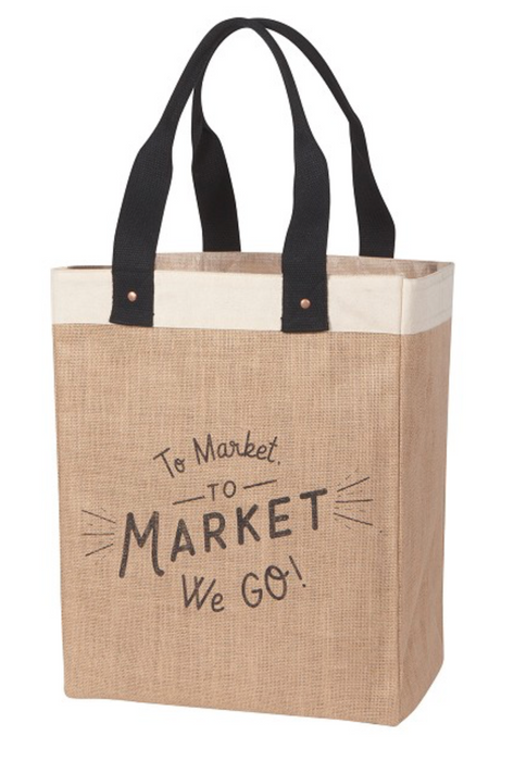 To Market We Go Market Tote - Greenhouse Home
