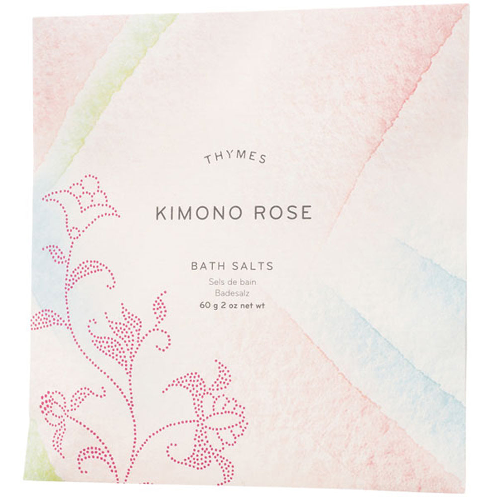 Kimono Rose Bath Salts Envelope - Greenhouse Home