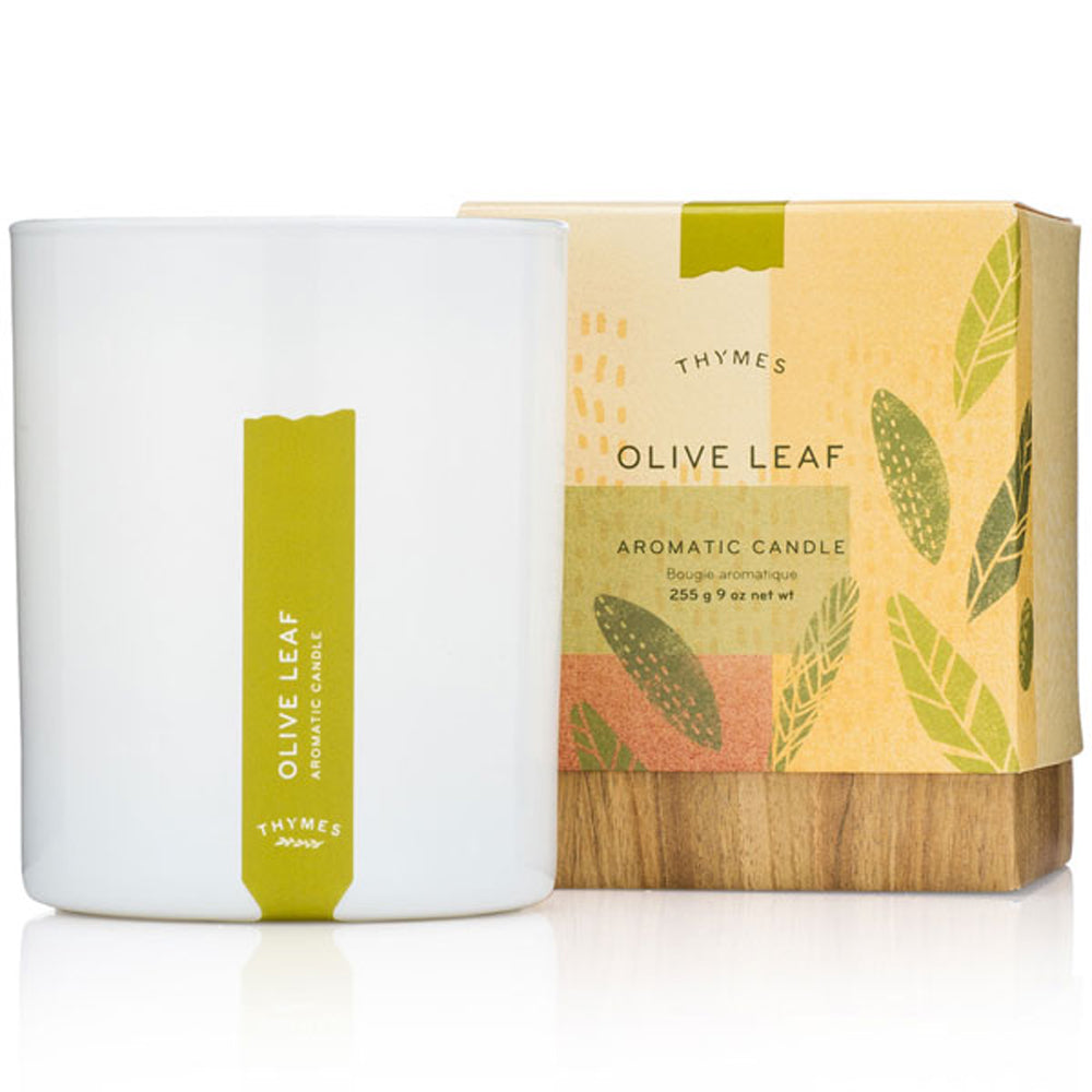 Olive Leaf Candle - Greenhouse Home