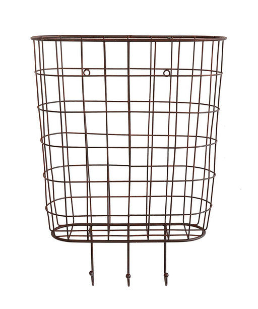3 Hook Wire Basket - Greenhouse Home