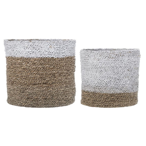 Natural Seagrass Baskets - Set of 2