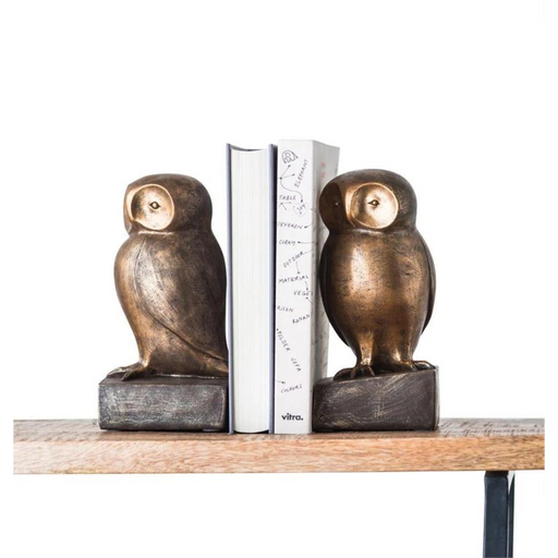 Resin Owl Bookends - Set of 2