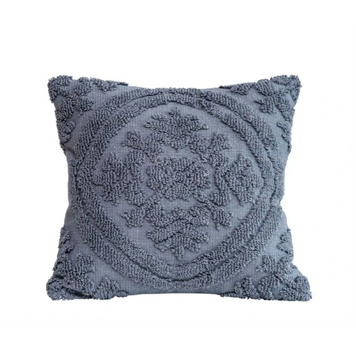 Navy Chenille Pillow - Greenhouse Home