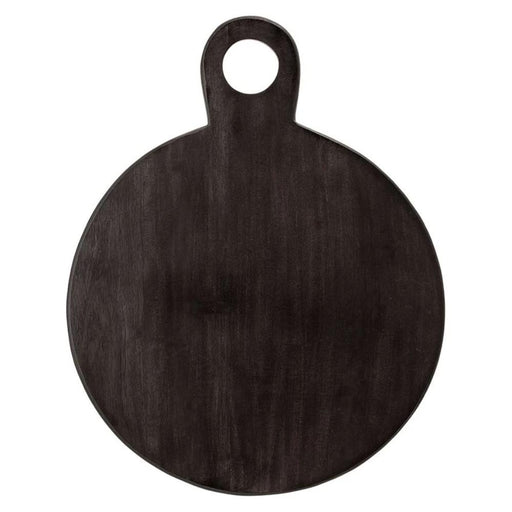 Black Round Acacia Cutting Board - Greenhouse Home