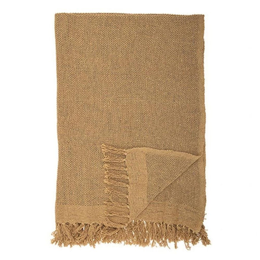 Cotton Throw with Fringe