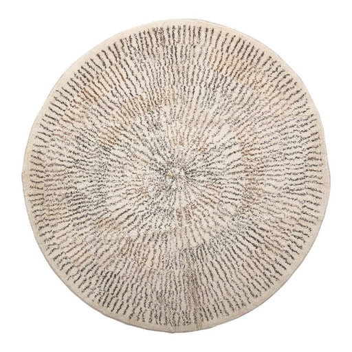 Round Cotton Printed Rug