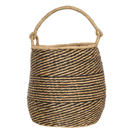 Handwoven Seagrass Basket with Handle