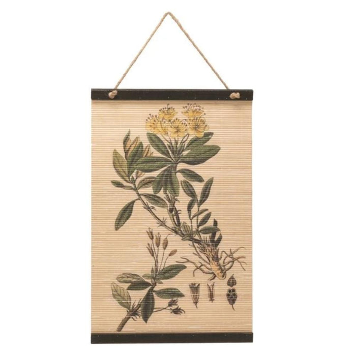Printed Bamboo Wall Scroll - Greenhouse Home