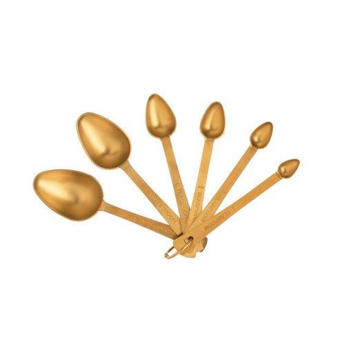 Gold Measuring Spoons - Set of 6 - Greenhouse Home
