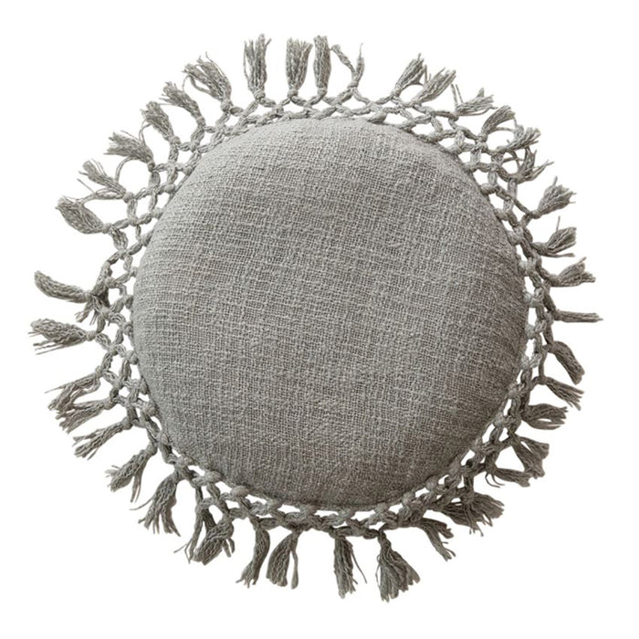 Round Cotton Slub Pillow - Greenhouse Home