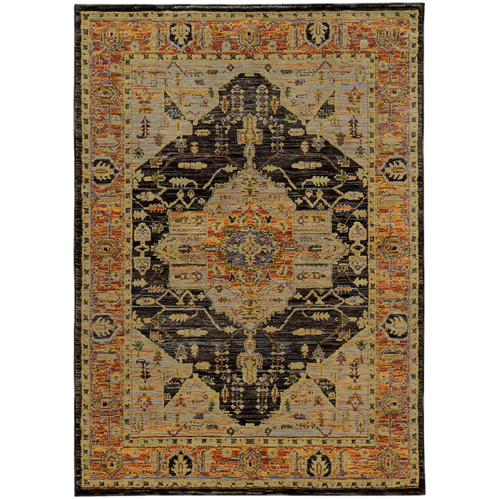 Andorra Medallion Rug in Amber