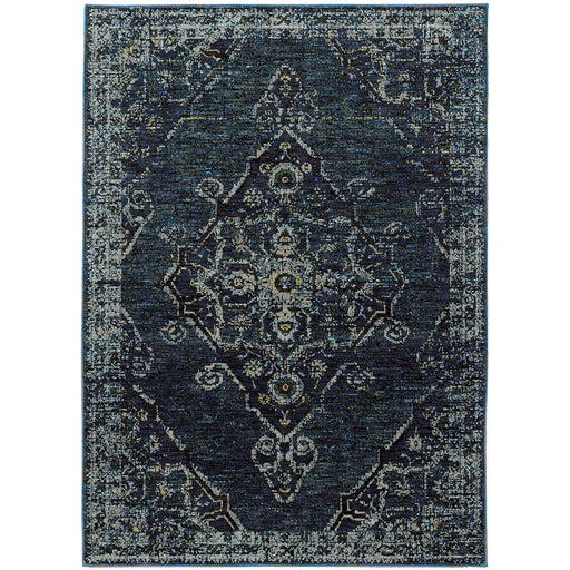 Andorra Rug in Blue - Greenhouse Home